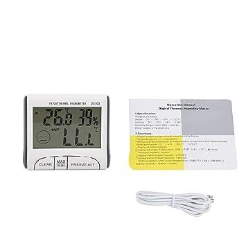 Zerodis - Termómetro Digital para congelador, para Uso en Interiores y Exteriores, con Alarma Audible
