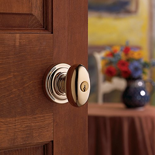 Baldwin Estate 5225.003.ENTR Keyed Entry Egg Knob in Polished (Baldwin Egg)