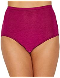 Women's illumination Brief Panty 13109, Berry Charming, 3X-Large/10
