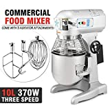 Kosmo Supply 0.5 Hp 10Qt Commercial Bakery Dough Food Mixer Gear...