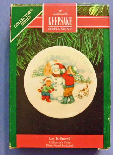 Hallmark Keepsake Ornament - Let it Snow! Porcelain Plate 1991 (QX4369)