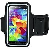 【ACETECH】 アームバンド ケース カバースポーツ ランニング用 軽量で通気性が良い Samsung Galaxy s6 / Samsung Galaxy s6 edge / Galaxy s7 / Galaxy s7 edge 対応(ブラック)
