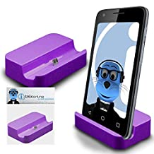 Purple Micro USB Sync & Charge / Charging Desktop Dock Stand Charger For Motorola Moto X Play 2015
