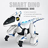 Glumes Wireless Remote Control Robot Dinosaur Interactive RC Robot Toy Sings, Dances, Omnidirectional Emotions, Game Interaction, High Agility & Gesture Sensing|American Warehouse Shipment (White)