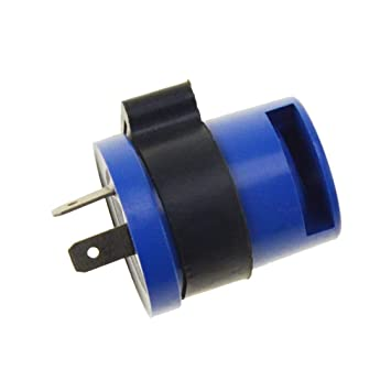 6-12V Motorcycle Beeper Flasher Relay Keenso 2 Pin Motorbike Turn Signal Indicator Blinker Relay Blue