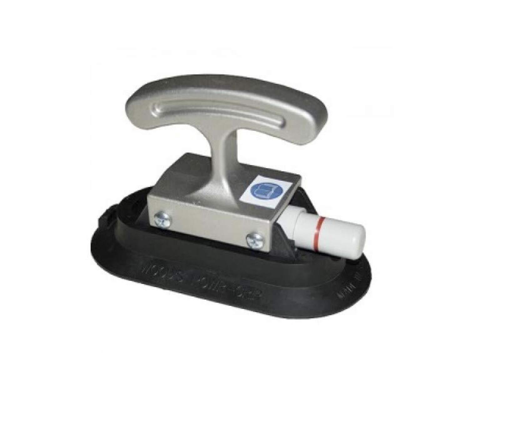 Wood's Powr-Grip 3'' x 6'' RF36HG Vacuum Suction Cup w/ Aluminum Handi-Grip Handle 40 lbs. Capacity by Wood's Powr-Grip