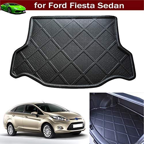 Car Boot Pad Liner Cargo Mat Tray Trunk Floor Protector Mat for Ford Fiesta Sedan 2009 2010 2011 2012 2013 2014 2015 2016 2017 2018 2019 ()