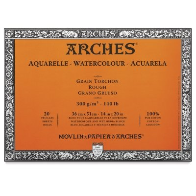 Arches 12-Inch x 16-Inch Acid-Free Cold-Press Watercolor Paper Block
