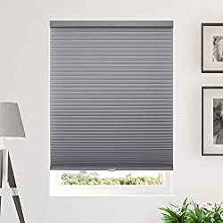 "CHICOLOGY Cordless Cellular Shades Privacy Single Cell Window Blind, 46"" W X 48"" H, Morning Pebble (Privacy and Light Filtering)"