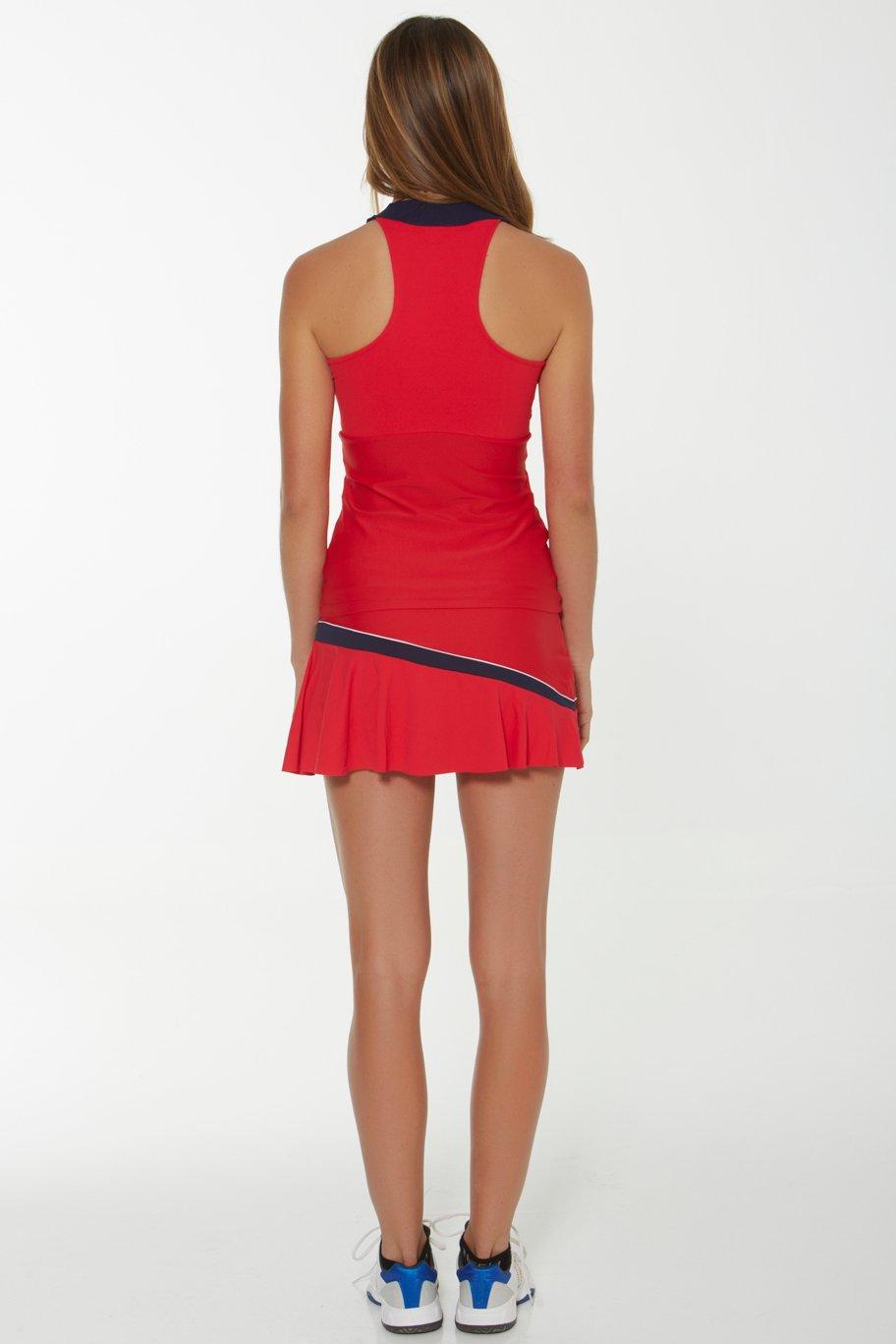 Naffta Tenis Padel - Falda-short para mujer, color rojo/marino, talla S: Amazon.es: Deportes y aire libre