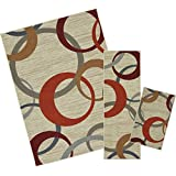 Mohawk Home Soho Picturale Rainbow Geometric Printed Area Rug Set, Set Contains: 1'6x2'6, 1'8x5 5'x7'