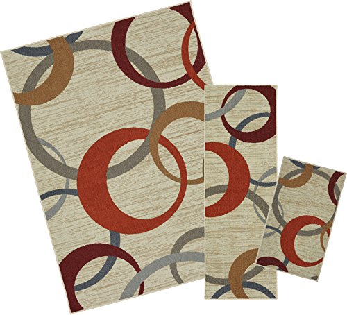 Mohawk Home Soho Picturale Rainbow Geometric Printed Area Rug Set, Set Contains: 1'6x2'6, 1'8x5' and 5'x7'