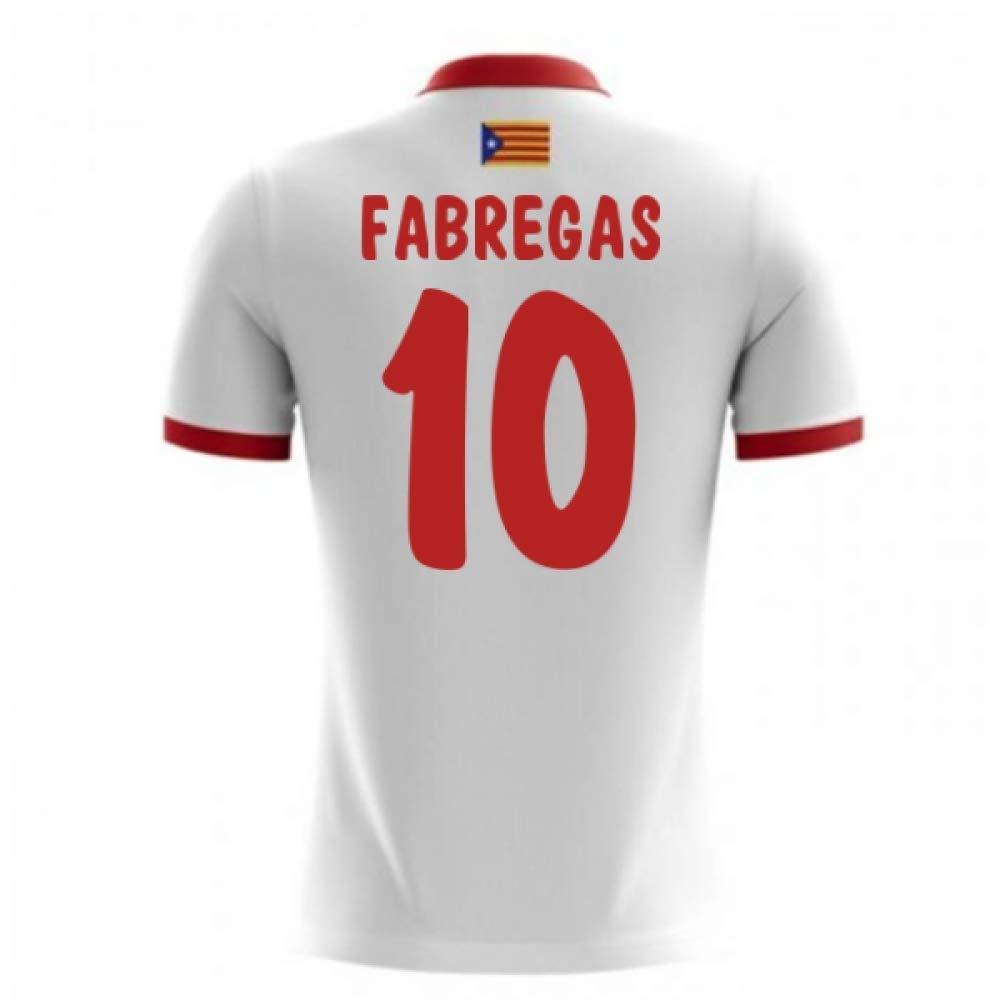 2017-18 Catalunya Airo Away Football Soccer T-Shirt Trikot (Cesc Fabregas 10)