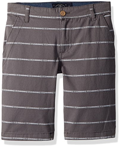 - Lucky Brand Big Boys' Flat Front Twill Shorts, as is as is Grey Mini Stripe, 8