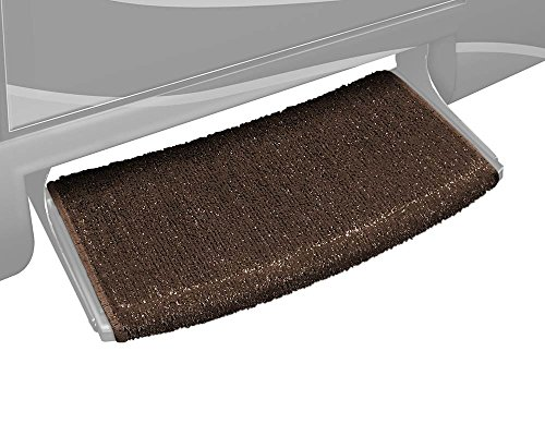 Prest-O-Fit 2-0203 Wraparound Radius RV Step Rug Espresso Brown 22 In. (Rug Part)