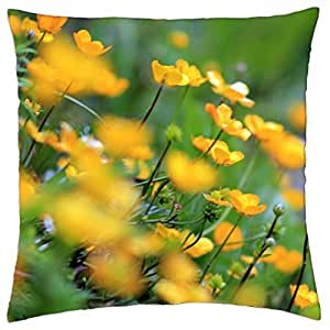 Bright Flowers in Sight - Throw Pillow Cover Case (18