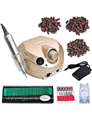 High Speed 30000RPM Electric Nail Drill Professional Manicure Pedicure Set with Nail Drill Bits + 3 Size of Sanding Bands
