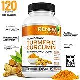 DOUBLE STRENGTH TURMERIC + BLACK PEPPER Capsules! 2 Month Supply! 1300mg! Non-GMO Turmeric Curcumin w Bioperine. Benefits Anti-inflammatory & Anti-Aging. Feel Less Joint Pain in 2 weeks! …