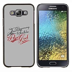 For Samsung Galaxy E5 E500 Case , Dios del rap- Diseño Patrón Teléfono Caso Cubierta Case Bumper Duro Protección Case Cover Funda