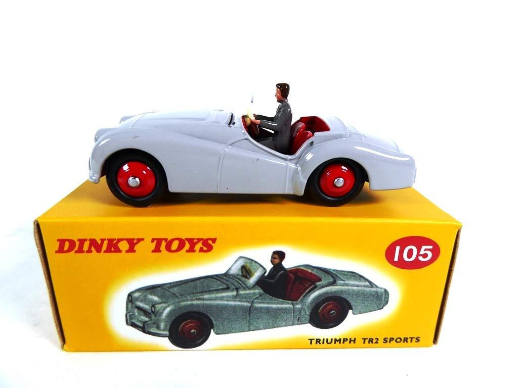 OPO 10 ref: MB450 Atlas Dinky Toys Triumph TR2 GRAU 105
