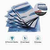 Mixed 80 Pcs Antistatic Bag (15x20cm/10x15cm/8x12cm)-JACKYLED Resealable for SSD HDD and Electronic Device
