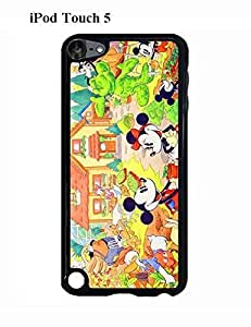 Ipod Touch 5,5th Generation Case for Girls Funny Characters Disney Black/039