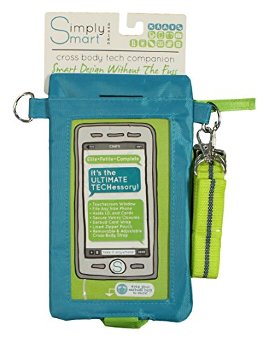 - Simply Smart Cross Body Tech Companion Travel Bag (Blue)
