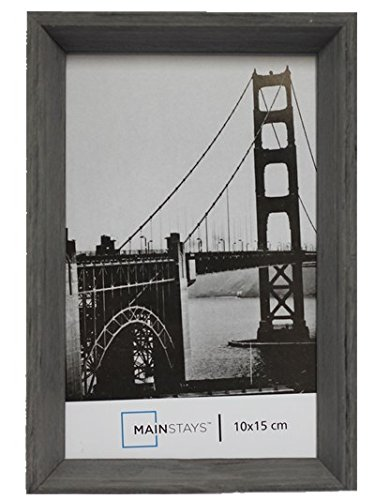 Ultimateod International Designs Linear Classic Wood Picture Frame, Holds 4''x6 ''Picture, 4 colours (dark grey)