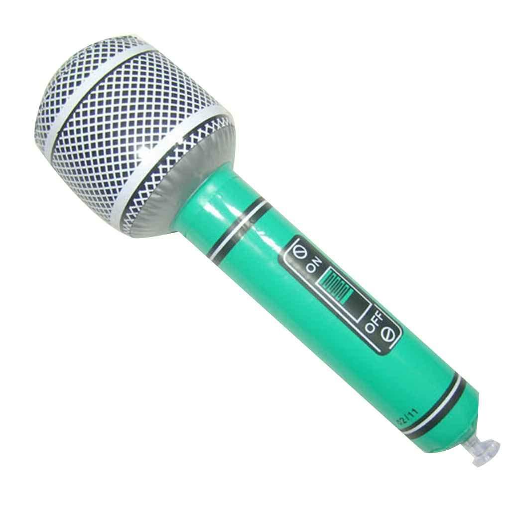 Couleur al/éatoire Microphone Guitare Saxophone Radio en forme gonflable Instrument de musique Party de vacances D/écoration Jouet