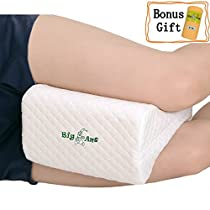 Orthopedic Knee Pillow for Sciatica Relief - Best for Lower Back, Leg, and Knee Pain- Memory Foam Wedge Contour Leg Pillow with Removable Cover