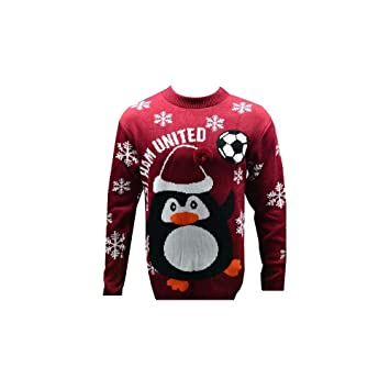 665cc73a7cb West Ham United Official Novelty Christmas Penguin Jumper 2018 2019 (Sizes  S to 3XL