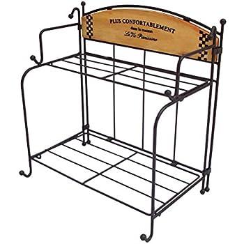 Amazon.com: 2-Tier Standing Rack EZOWare Kitchen Bathroom