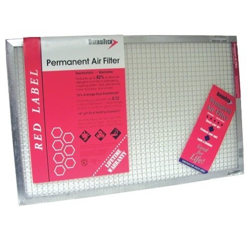 Red Diversitech AFR2024-1 Label Furnace Air Filter
