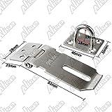 Alise MS9-3A Padlock Hasp Door Clasp Hasp Lock Latch SUS 304 Stainless Steel Brushed Nickel