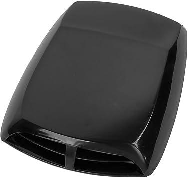 Car Air Flow Intake Decorative Scoop Bonnet Vent Hood Cover Universal Carbon Fiber Style Auto Car Decorative Hood Scoop 2Pcs Moligh doll Car Air Flow Intake Cover