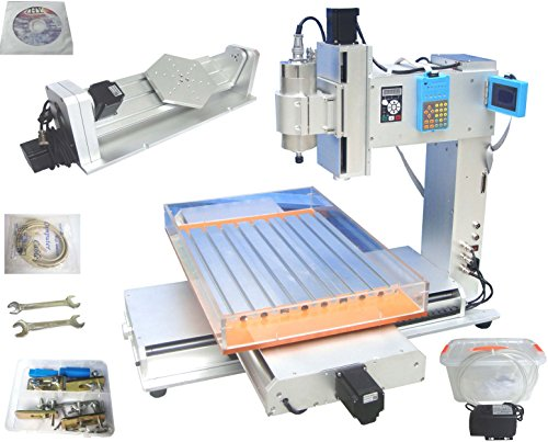 HY 6040 CNC Router 5 Axis Engraver Engraving Machine Desktop 1.5KW Spindle
