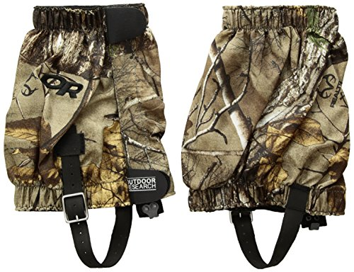 Outdoor Research Rocky Mountain low Real Tree Gaiters, Realtree Xtra, Small/Medium (Realtree Mountain Boot)