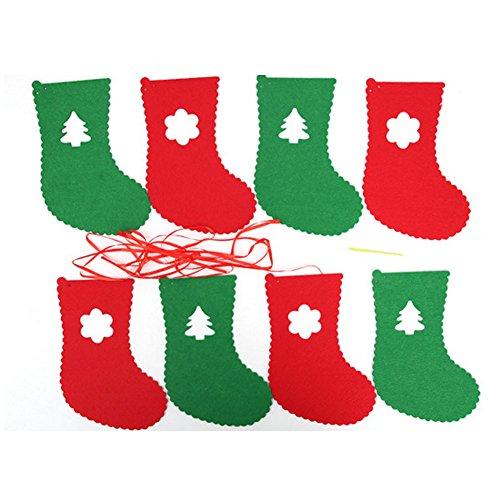 BleuMoo Tree Dec Wholesale Decorations Eight Flag Flag DIY Christmas (sock)