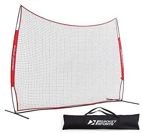 Rukket 12x9ft Barricade Backstop Net | Lacrosse, Basketball, Soccer, Field Hockey, Baseball, Softball Barrier Netting for - Youth Hockey Goalie Catcher