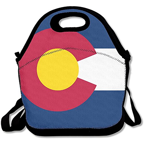 Colorado (CO) State Flag Lunch Bag Lunch Tote Lunch Box Handbag For Kids And Adults (Lunch State Box)