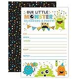 Monster Birthday Invitations, Little Monster Birthday Party Invites, 20 Fill In Monster Party Invitations With Envelopes