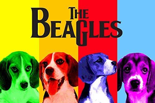 Buyartforless The Beagles by Robert Downes 24x36 Art Print Poster Dog Lovers Humor Retro Pop Style I BD104