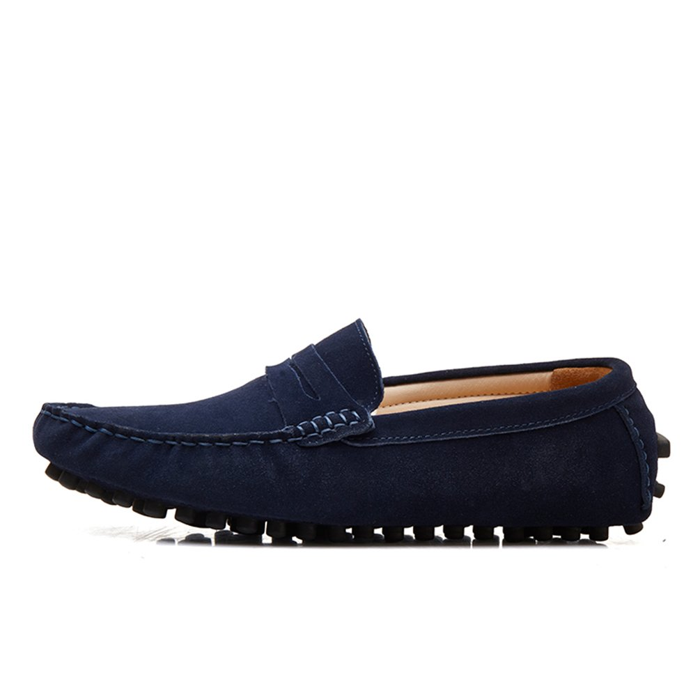 c404e0382b3 SUNROLAN Men s Suede Leather Dress Shoes Slip On Penny Loafers Driving  Moccasin Shoes  Amazon.co.uk  Shoes   Bags