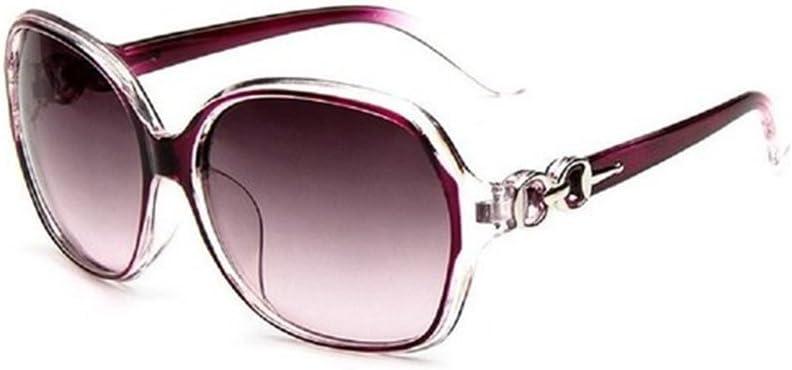 Daorier Gafas de sol polarizadas, Protección UV, moda, mujer, gran montura, Gafas de seguridad, resistentes al sol, Lila, plástico, morado, talla única