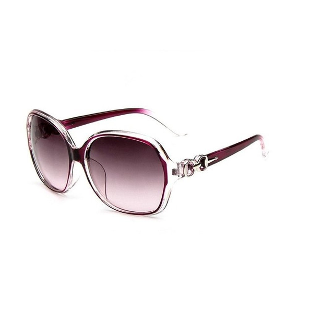 Hosaire Sombras mujeres de gran tamaño gafas de sol clásico del diseñador de moda de estilo UV400-Brillante Negro y gris