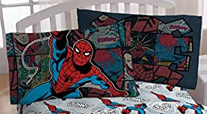 Marvel Spiderman 'Jump Kick' Microfiber Standard Pillowcase