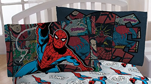 - Marvel Spiderman 'Jump Kick' Microfiber Standard Pillowcase