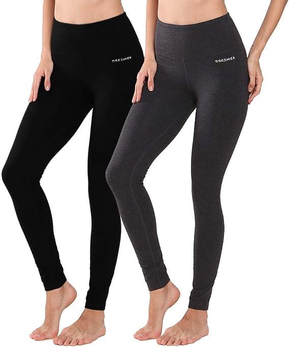 Ogeenier Sporthose Damen Sport Leggings Yoga Capri Leggings Hohe Taille Yogahose Laufhose Fitnesshose Jogginghose Training Sport Tights mit Tasche