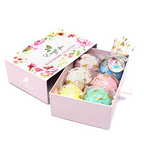 Large Bath Bombs Gift Set - 6 x 5oz Premium Essential Bath Fizzies - Perfect Gift For Women, Mom, Girls, Teens, Her - Best For Aromatherapy, Relaxation, Moisturizing (Best For Girls Gift Teenage)