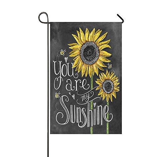Rossne G sun You Are My Sunshine Sunflower Garden Flag House Flag Decoration Double Sided Flag 12.5 x 18 Inch